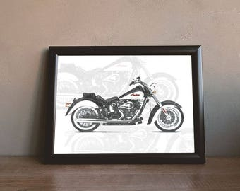 Indian Motorcycle Art,  Black and White, Classic, wall art