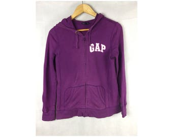 GAP Stretch Hoodies Long Sleeve Small Size Fully Zipper