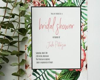 Boho Color bridal Shower Invitation |