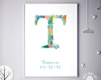 Baby Gift, Birthday Art Print, Nursery Decor, Bedroom Decor, Tracy, Tabitha, Tori, Tammy, For Baby Room, Children Art, Birthday