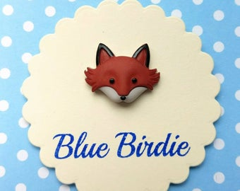 Fox face brooch fox jewelry fox badge fox brooch fox jewellery fox jewelry fox gift small fox brooch woodland animals jewelry