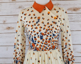 Vintage Orange Blossom Dress