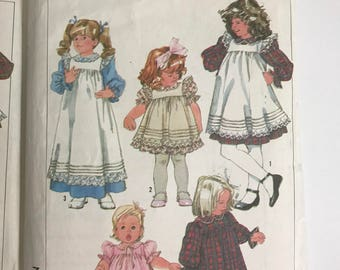 Pair of Vintage Simplicity Dress and Pinafore Patterns