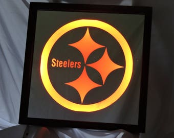 Pittsburgh Steelers LED Remote Controlled Mirror