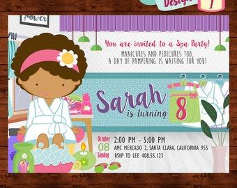 Spa Party Invitation, Girls Spa Party Invite, Spa Birthday Party, Kids Spa Party, Spa Party Printable, Spa Birthday Invite, Pamper Party