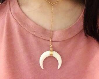 horn y-necklace