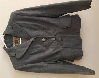 1940s grey blazer jacket