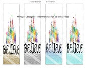 Set of four Disney BookMarks or Dashboards - Printable Planner Bookmark - Disney Bookmarks