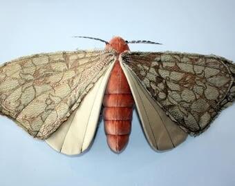 Linden the Spirit Moth - OOAK Handmade Textile Sculpture