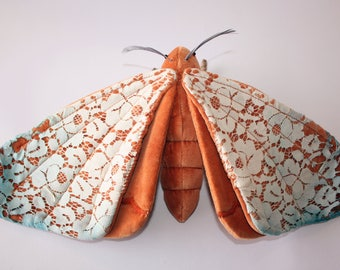 Sage the Spirit Moth - OOAK Handmade Textile Sculpture