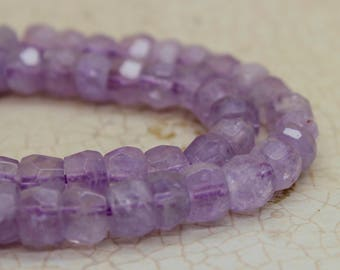 Cape Amethyst Rondelle Faceted Gemstone Beads
