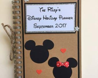 Personalused Disney Notebook Holiday Planner Minnie Mickey Mouse Keepsake Hand Made Vintage Kraft