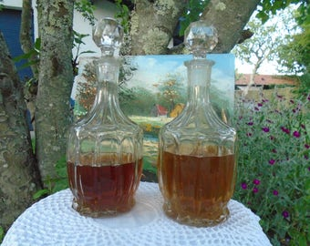 Water carafe, orangeade, alcohol - made in France from the 60's - glass