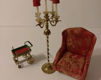 Vintage Petite Princess Miniature Doll House Five Candle Candelabra by Ideal