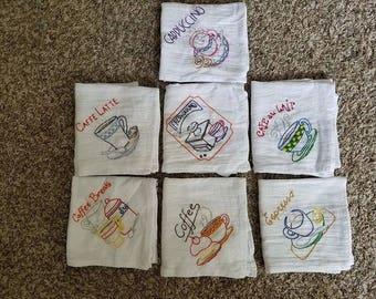 """Embroidered """"Java"""" Dish Towel Set"""