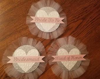 Bridal Shower Pins