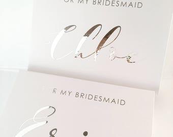 MediumPersonalised gift Box (magnetic closure) - Groomsman, Best man - Bridesmaids Gift Box