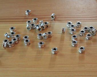 silver spacer beads 7x4mm silver beads wholesale spacer beads antique silver beads wholesale beads silver wholesale beads