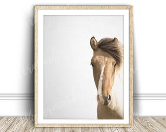 Horse art print Horse wall art Horse canvas art Animal wall art Animal poster Horse printable Nursery poster animal Instant Download
