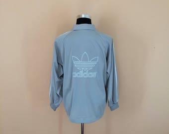 Vintage 90's Adidas Embroidery Big Logo Zipper Jacket Nice Design Hip Hop Style