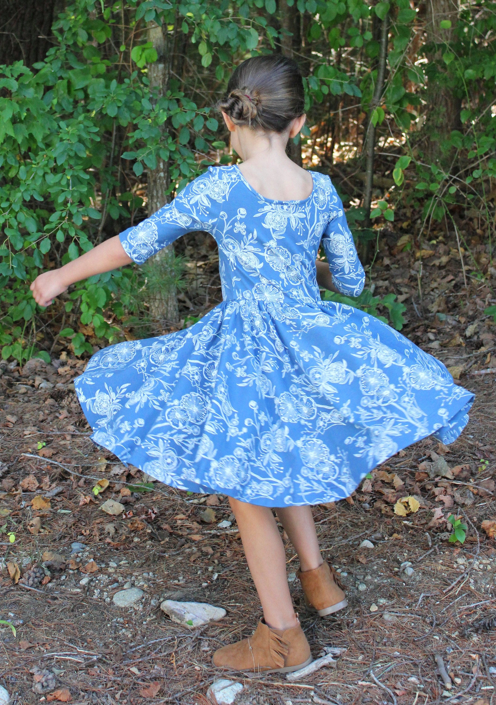 Fall dress circle skirt dress fall twirl dress girls twirl dress fall dress circle skirt dress fall twirl dress girls twirl dress blue izmirmasajfo