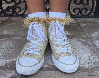 Sparkly Gold Socks