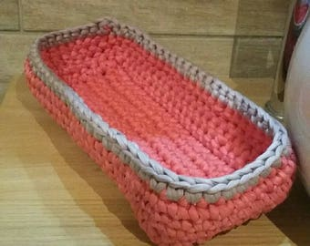 Rectangular storage for diapers, baby basket.