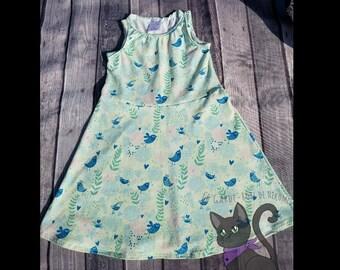 Spring green sleeveless dress