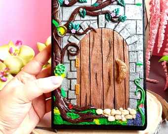 Polymer Clay Enchanted Door Journal 8.25\