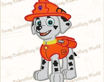 BOGO FREE! PAW Patrol Marshall applique embroidery design, machine embroidery,embroidery designs. Instant download,5 sizes,8 formats #2030-3