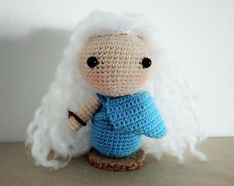 Patrón amigurumi Daenerys, Daenerys crochet pattern, patrón amigurumi, patrón ganchillo, patrón muñeca, doll pattern, crochet pattern