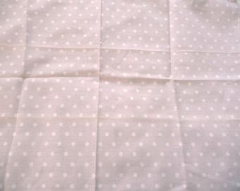 Fabric light pink cotton with white polka dots