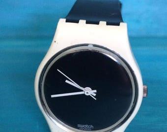 Vintage Swatch Watch. 1987 Little Eclipse Swatch Watch