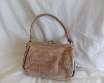 Vintage Johnny Loves Rosie Handbag, Classic design. Faux snake skin