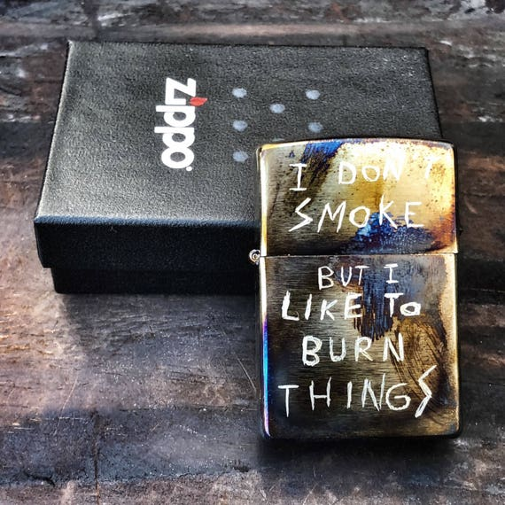 Custom Zippo Don't Smoke by Olmo