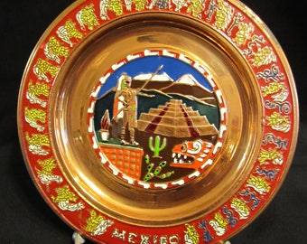 5s    Mexico Painted Copper Plate