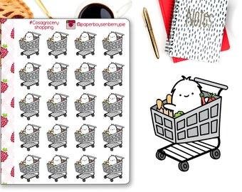 Groceries Planner Stickers - Planner Stickers