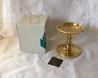 Vintage Partylite J3022 Falmouth Brass Candleholder, Vintage Home Decor, Vintage Candleholder, Brass Candle