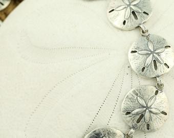Sand Dollar Bracelet - Sterling Silver 925- Link Bracelet