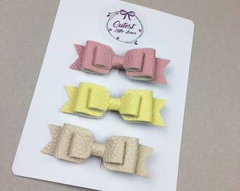 Bow, hair bow, hair bows, hair clips, headband, bow headband, Leather bows