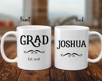 Graduation mug, for him, personalized mug, graduation gift, coffee lover gift, graduation 2018, college graduation, gift for graduate