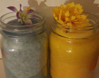 Orange,lemon lavender, grapefruit,spring time, and strawberry