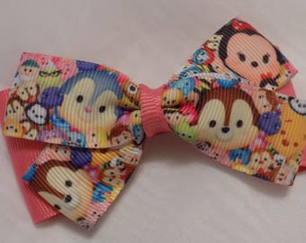 New Tsum Tsum Hair Bow - Girl's Hair Bow, Tsum Tsum hair bow for girl, Toddler hair bow, Hair bow, Hair clip for girls, Toddler hair clip