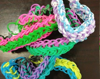 Wide 2 color band bracelet