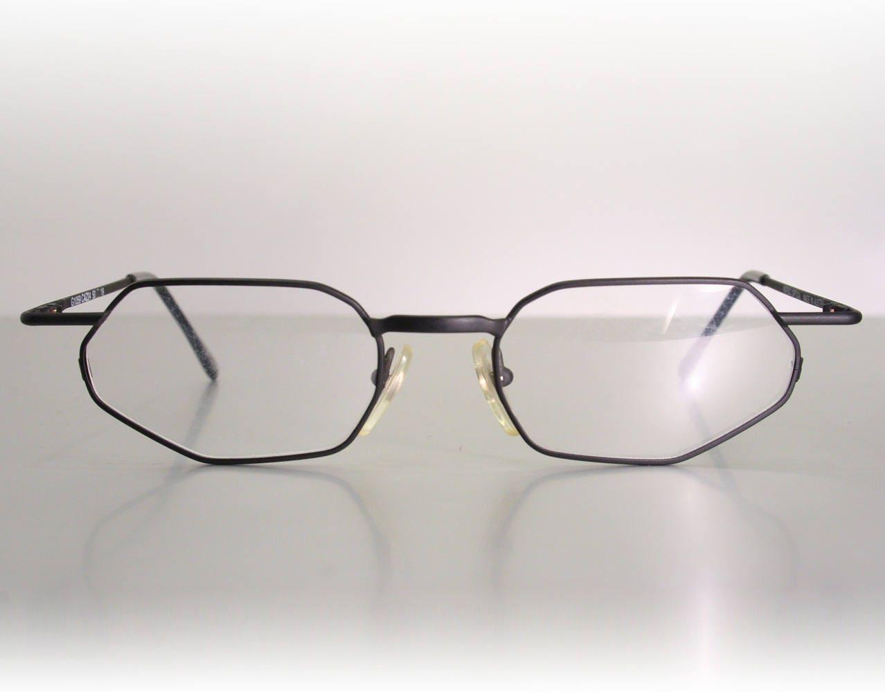 Matte Black NORDIC OPTICAL Men\'s Angular Eyeglass Frames NOS Old ...