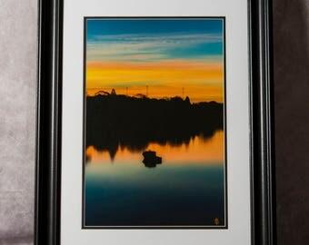 Framed Photograph: Sunrise and Shadow