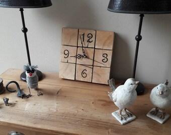 Clock from wood block