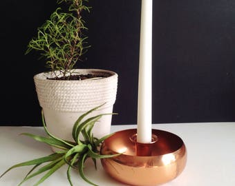 Coppercraft Guild Copper Round Candlestick Holder Midcentury Modern Decor