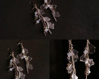 "Earrings ""Cascades of petals"""