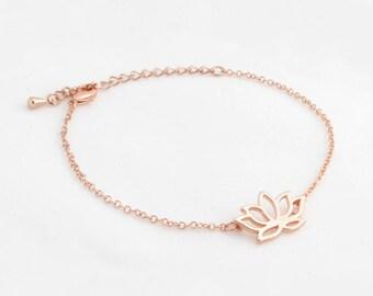"""Lotus Flower Bracelet """"Lotus"""" rose gold"""